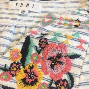 Floral embroidered summer top
